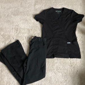 Black xs greys anatomy scrubs vguc